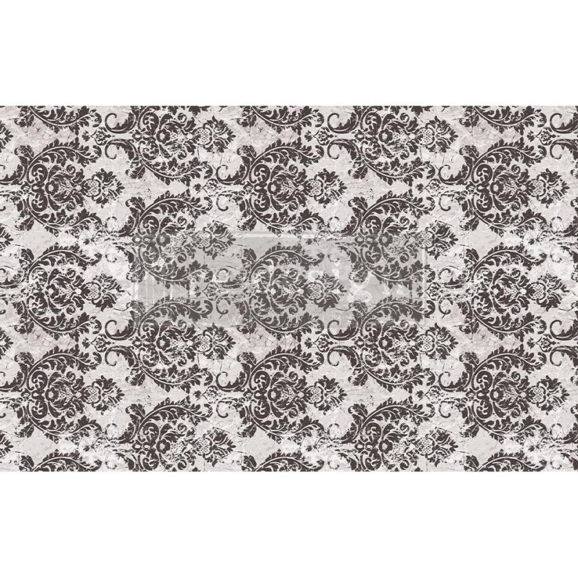 "Decoupage Decor Tissue Paper - Evening Damask - 1 sheet, 19""x30"""