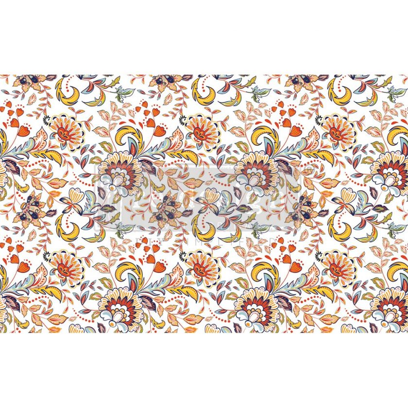 "Decoupage Decor Tissue Paper - Tangerine Spring - 1 sheet, 19""x30"""