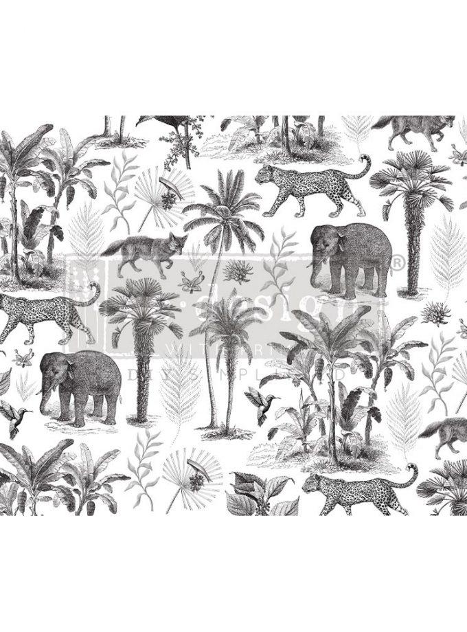 """Decoupage Decor Tissue Paper - Wild Savanna - 1 sheet, 19""""x30"""""""