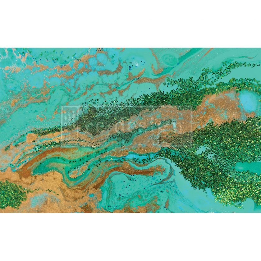 "Decoupage Decor Tissue Paper - Patina Copper - 1 sheet, 19""x30"""