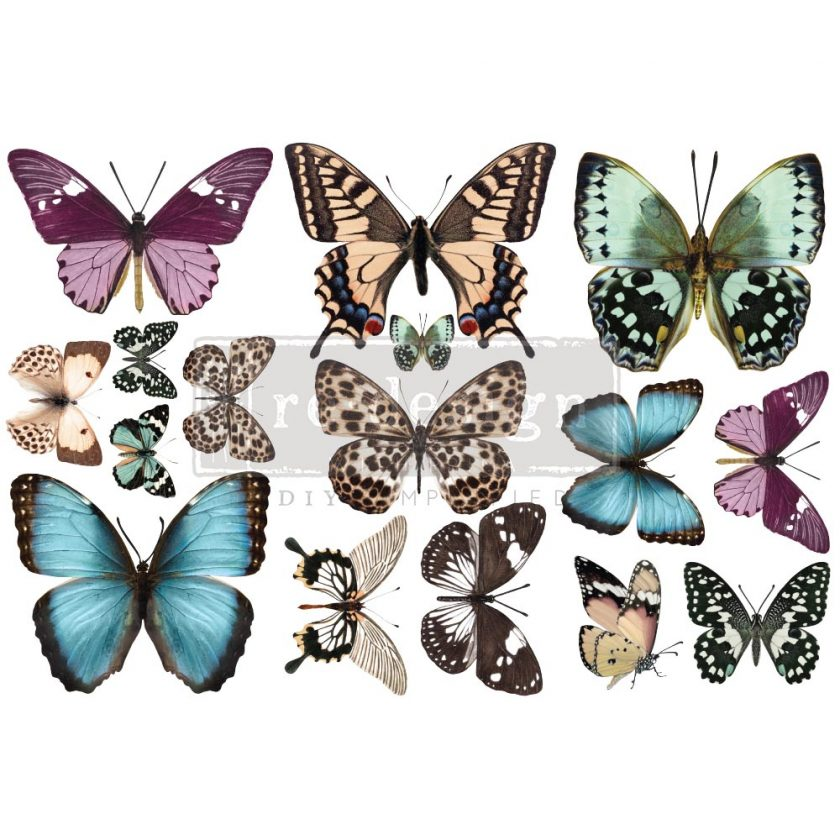 """Decor Transfers® - Butterfly - 3 sheets, 6""""x12"""""""