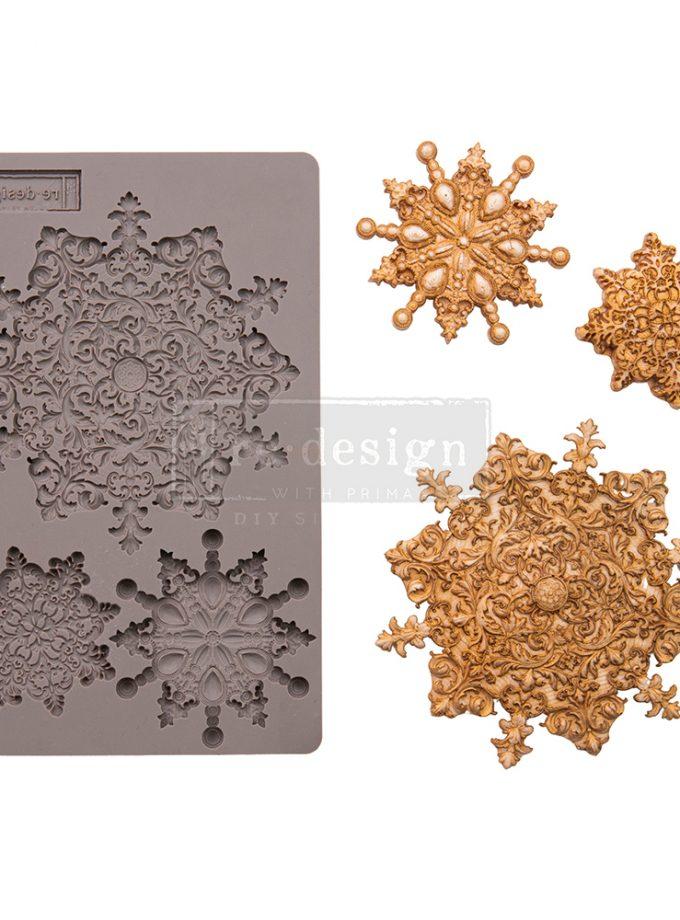 """Decor Mould - Snowflake Jewels - 1 pc, 5""""x8""""x8mm"""