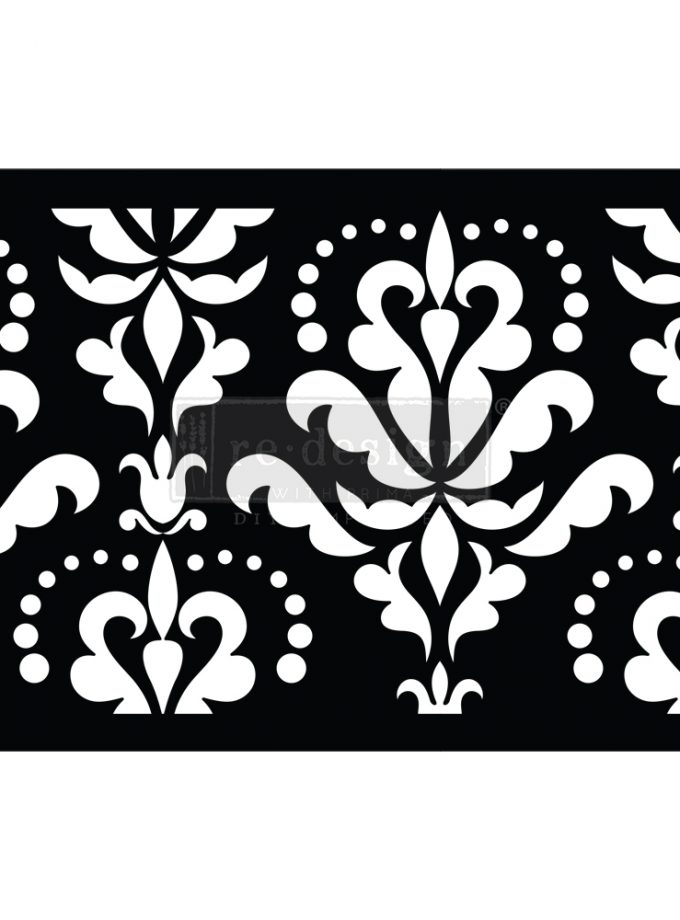 "Stick & Style - Damask Flourish - 1 roll, 7"" x 5yds (6"" design)"