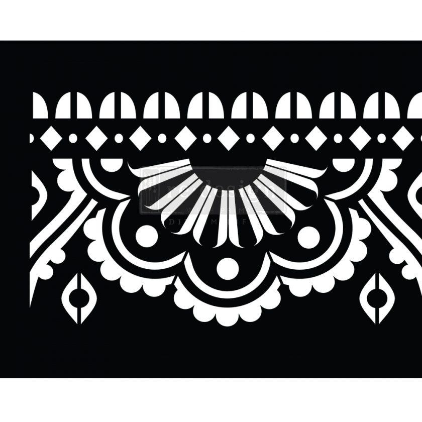 "Stick & Style - Mendhi Border - 1 roll, 7"" x 5yds (6"" design)"