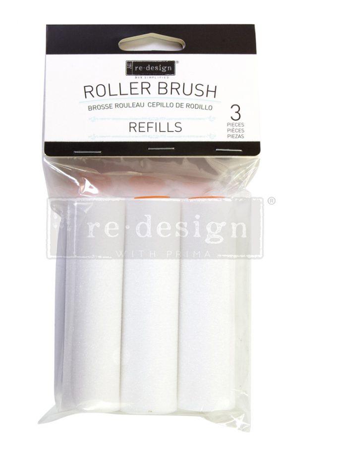 "Roller Brush Refills - 3 pcs, 4""x1"""