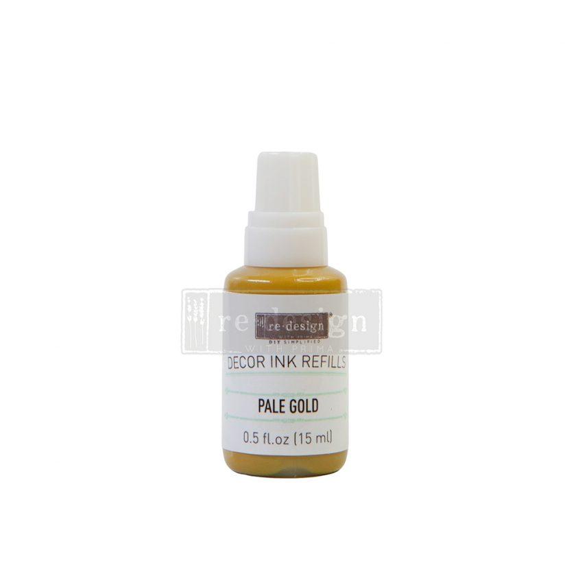Decor Ink Refill - Pale Gold - 1 bottle, 15ml