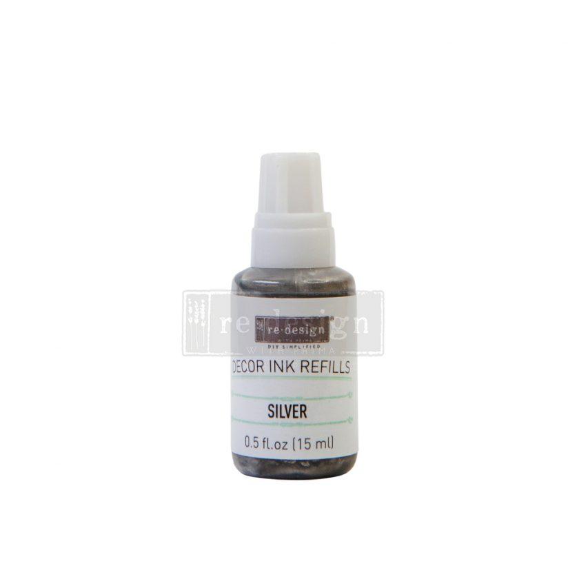 Decor Ink Refill - Silver - 1 bottle, 15ml